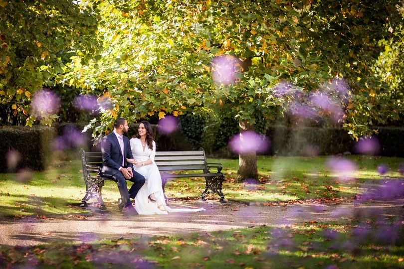 Seated on a bench - Philip Bedford Wedding Photography