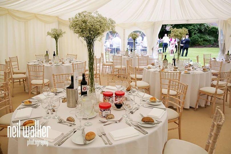 Findon Manor Hotel Marquee Wedding