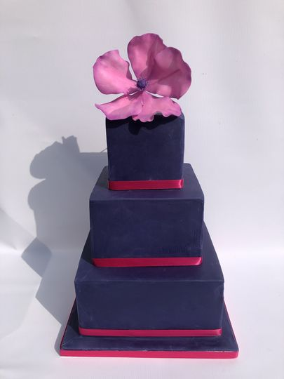 Blue Square Pink Poppy
