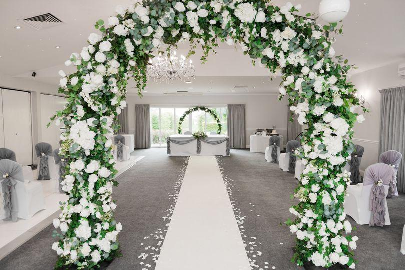 And indoor ceremony