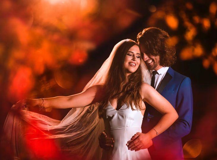 Creative bridal portraits