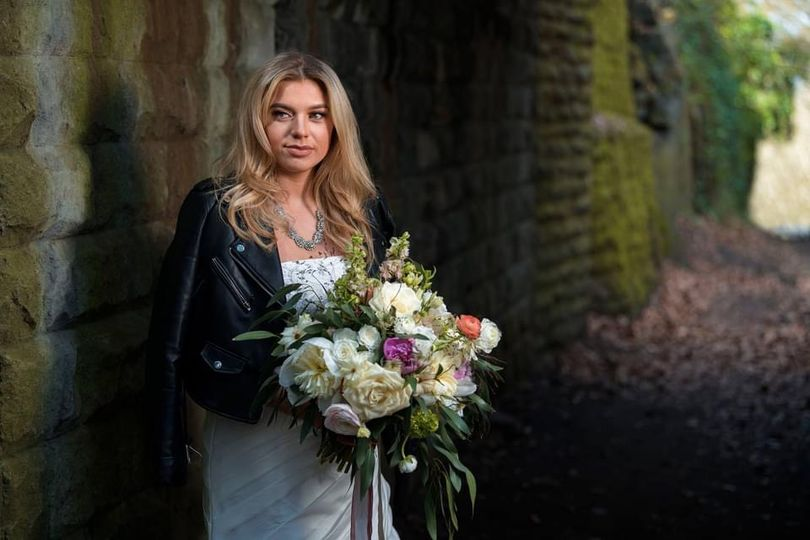 Rock n roll bride in Leeds