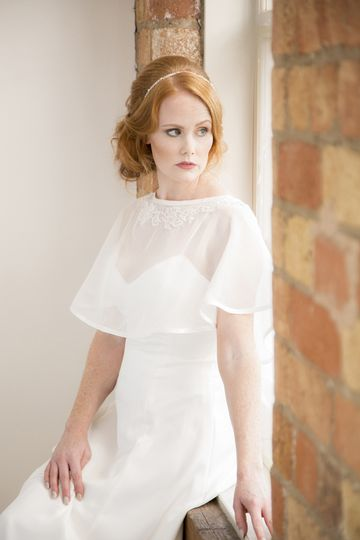 Stunning dress with capelet