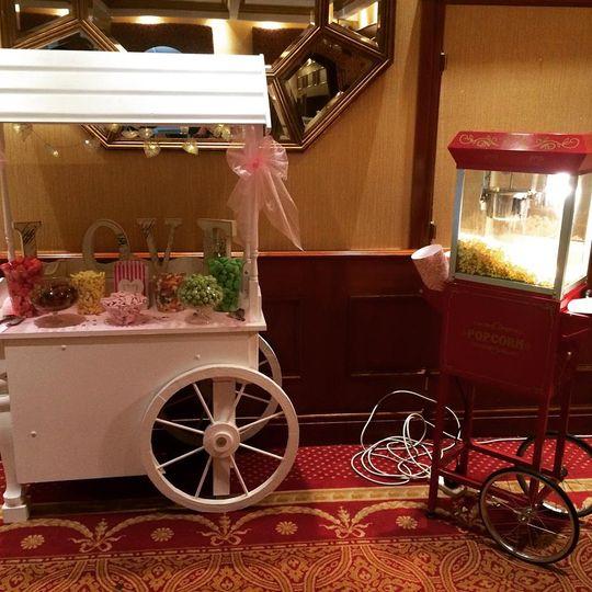 Sweet cart & popcorn