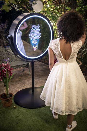 The beauty magic mirror