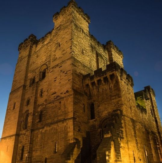 Newcastle Castle Keep by night