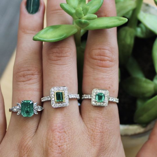 Selection of Emerald Rings