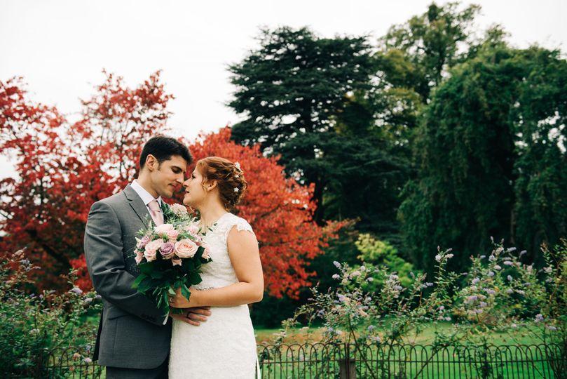 Autumnal backdrop - Coales Capture Wedding Photography