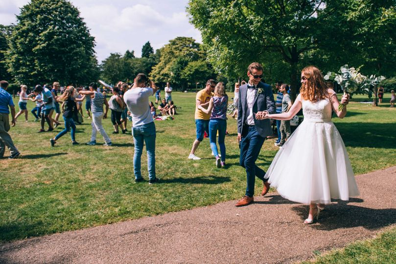 Newlyweds stroll - Coales Capture Wedding Photography