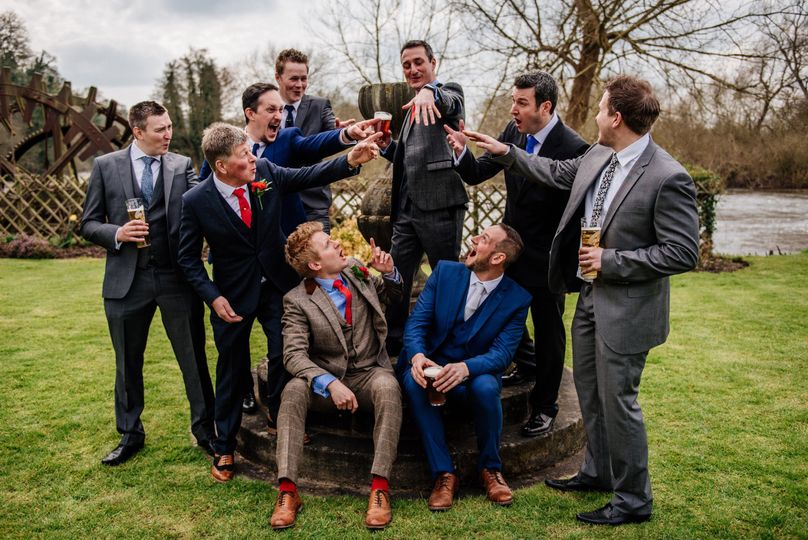 Group fun before the wedding - Coales Capture Wedding Photography