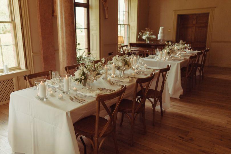 Wedding Breakfast Set-up