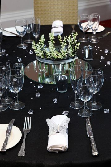 Black themed table