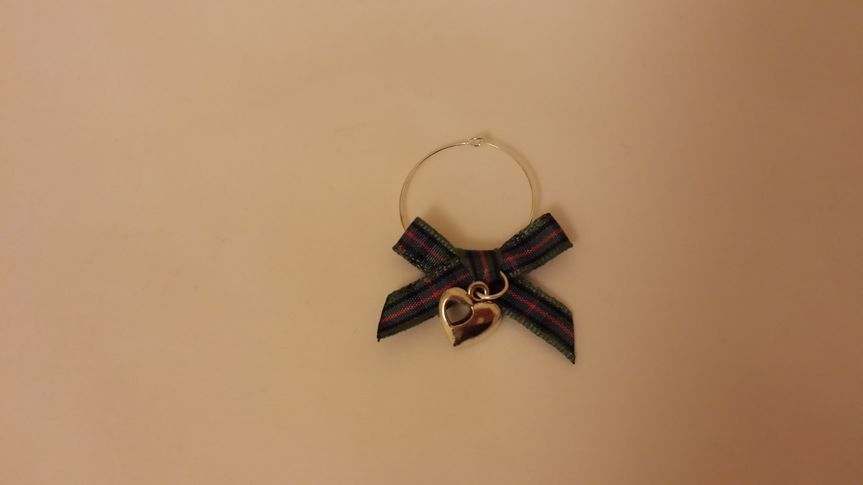 Example of glass charm favour