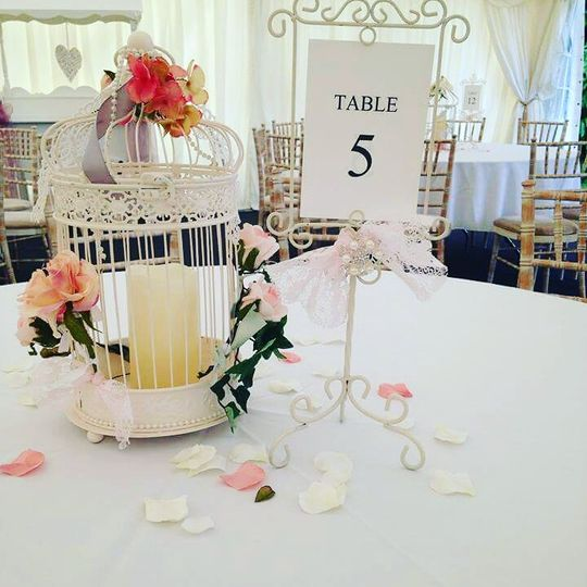 Birdcage and Table Number