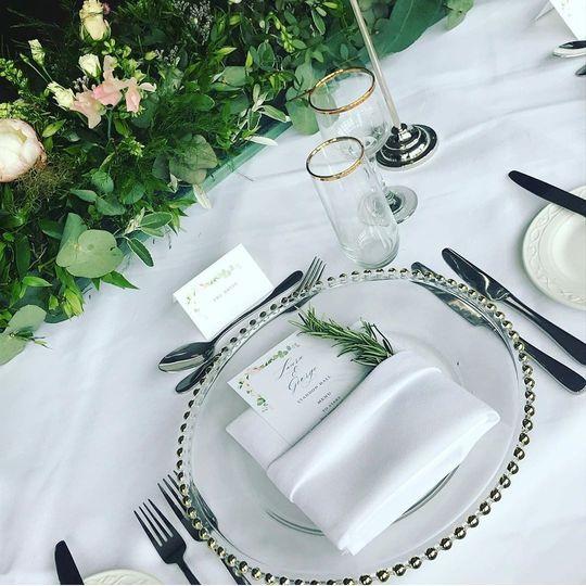 Wedding Breakfast Table Decor