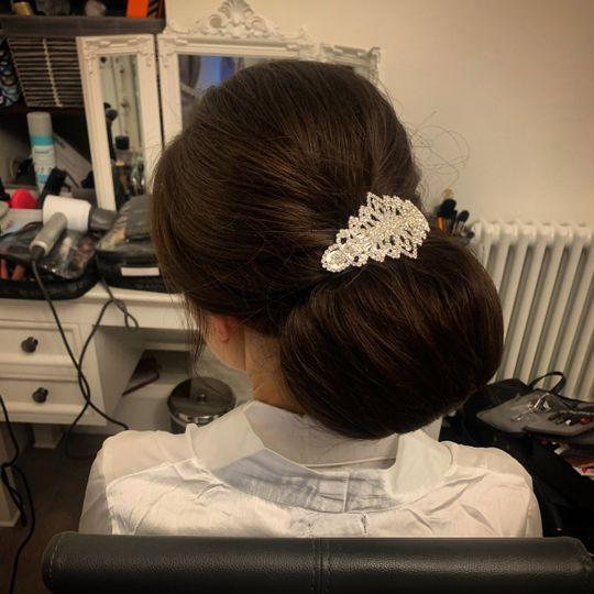 Wedding-day hair