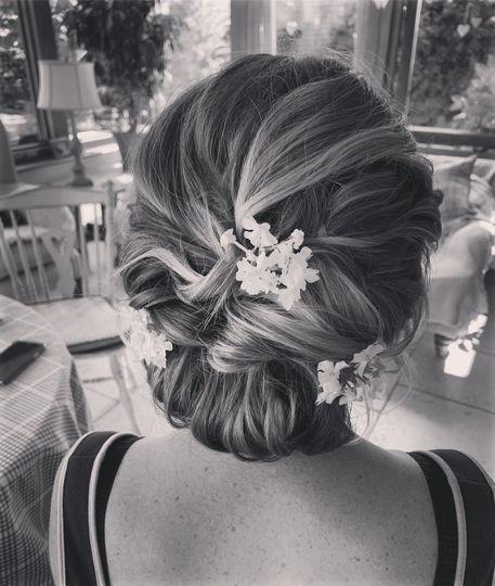 Bride boho hair