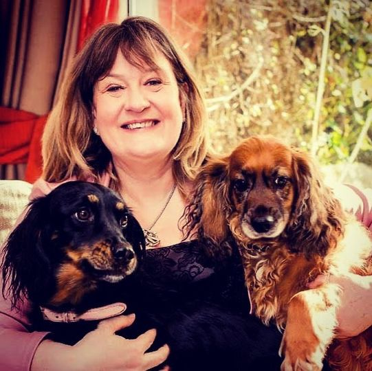 Janni with beautiful dogs