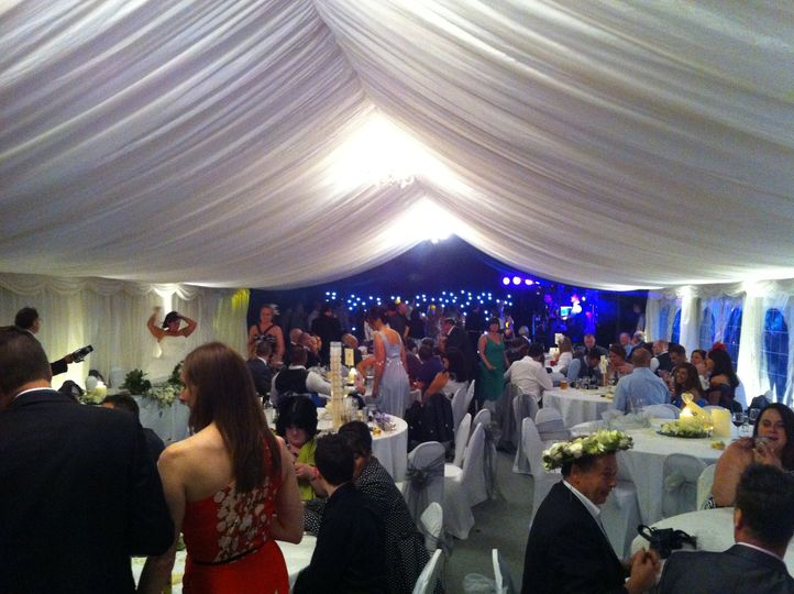 Night time at the marquee