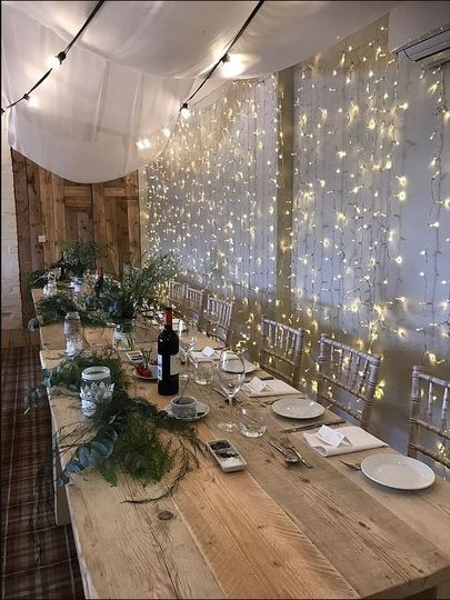 Top Table twinkling lights