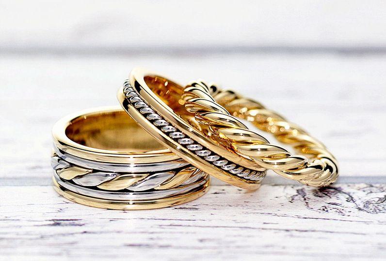 Twisted Wedding Rings