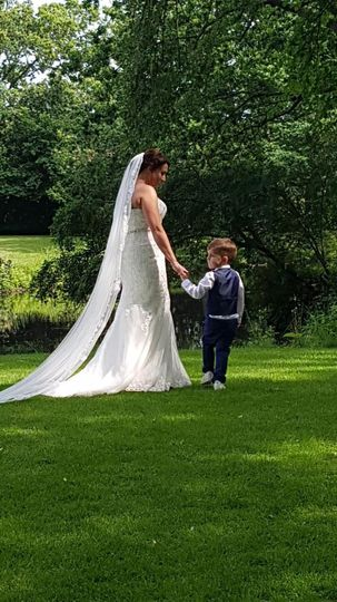 Little boy and bride