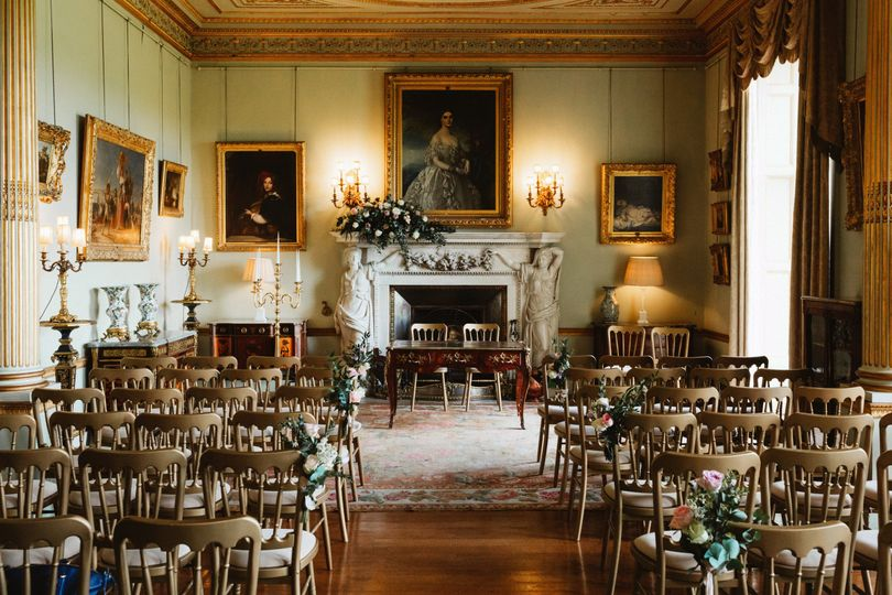 Ceremony Set up in The Drawing Room