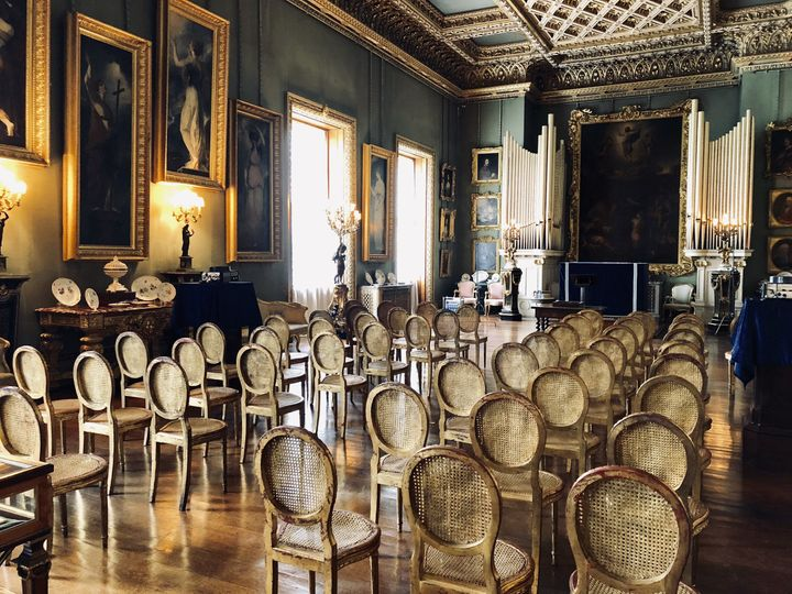 Ceremony Set Up in The Picture Gallery