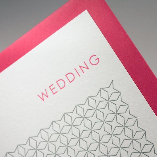 'Deco Stars' Design - Letterpress