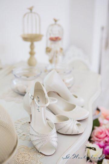 Classic wedding heels