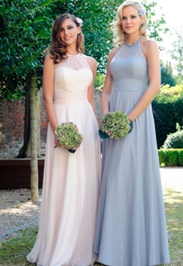 Full-length bridesmaid gowns