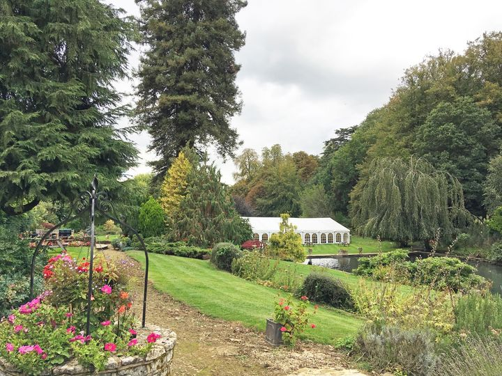 Canal Lake venue - Clear span marquee on the main lawn