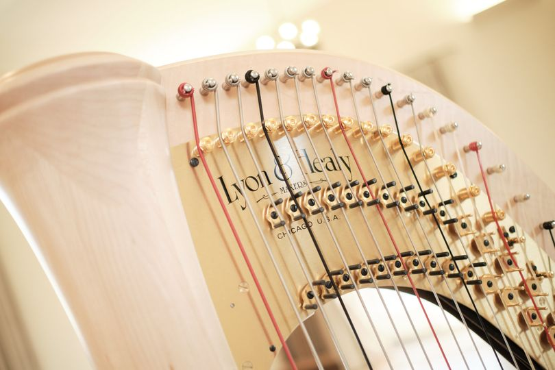 Closeup of the harp