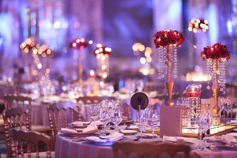 Glasses and table decor