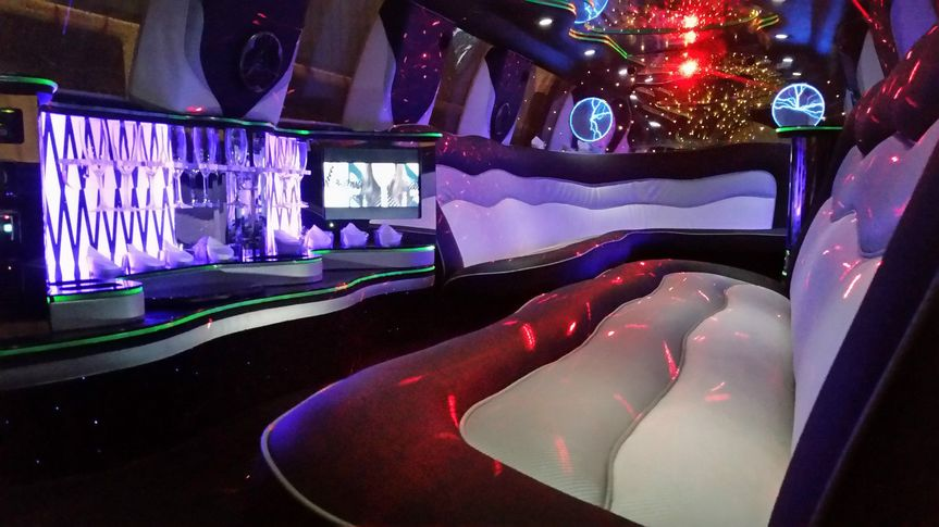 White 16seater interior