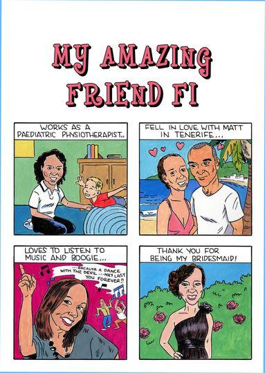 Bridesmaid gift as a comic