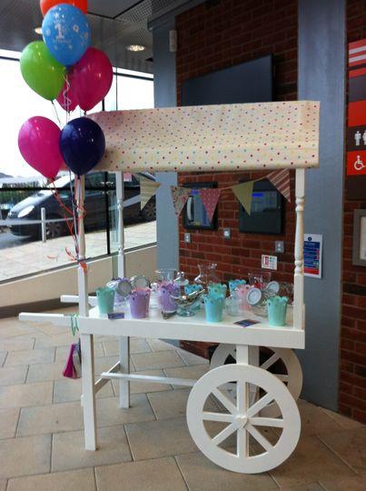 Sweet cart set up