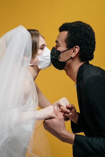 Kissing with masks