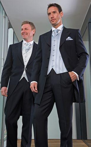 Pale blue stripe waistcoat