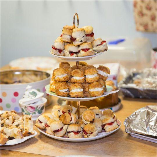 Bite-size scones
