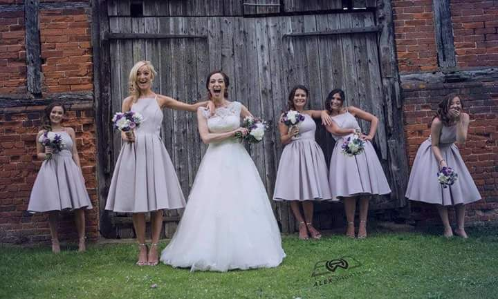 Lilac and succulent wedding flowers