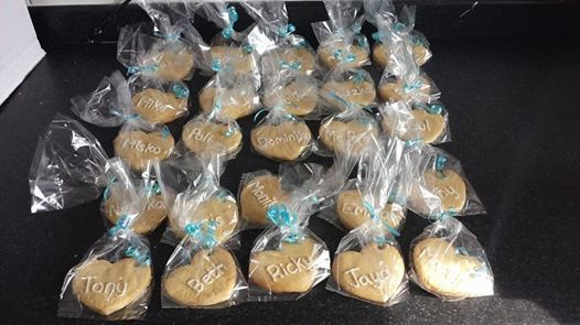 Wedding place name biscuits