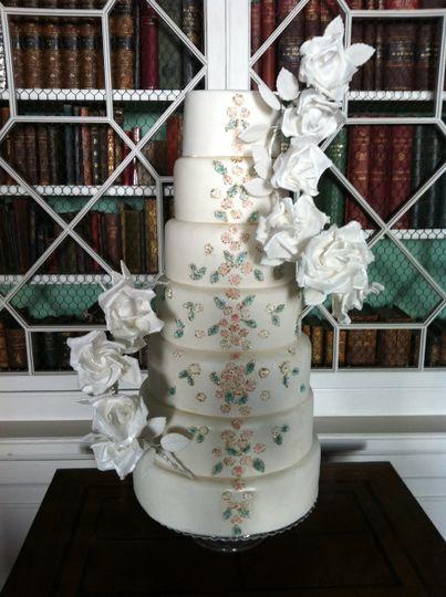 Royal Icing detail rose cake