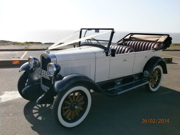 1928 Chevrolet, roof down