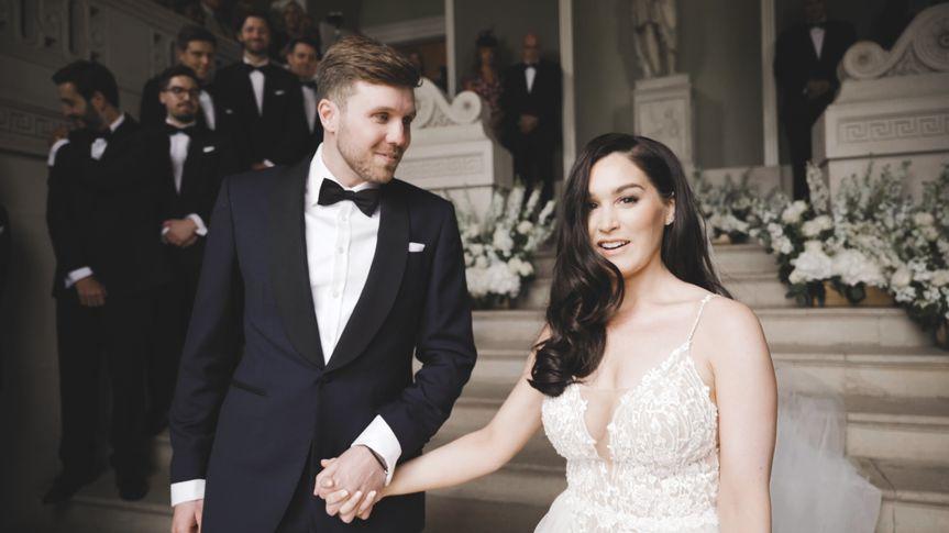 Screenshot from wedding film
