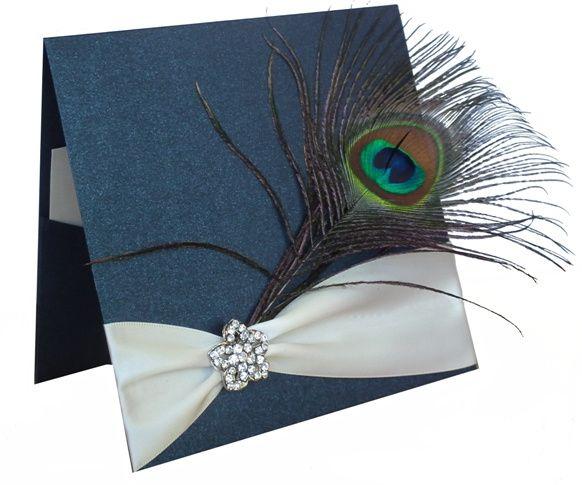 Peacock Feather & Diamante