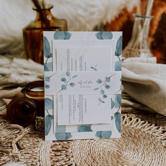 Blue Eucalyptus wedding set