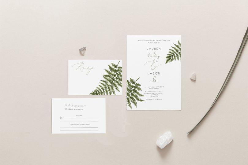 Fern wedding set