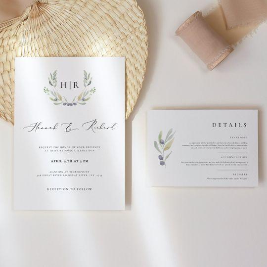 Olive invite set