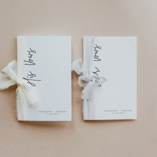 Modern vow books